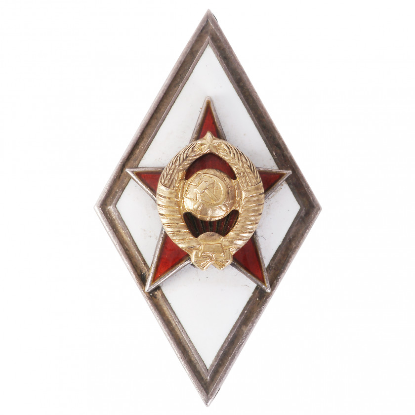 "Badge ""For graduating from a military academy"""