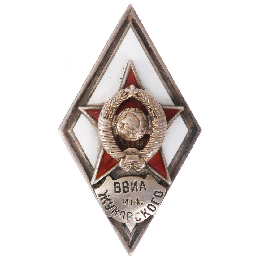 "Badge ""For graduating Zhukovsky air force engineering academy"""