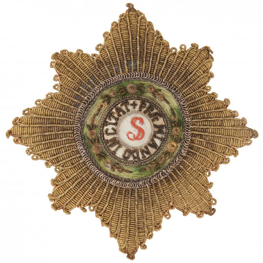 Шитая звезда ордена св. Станислава