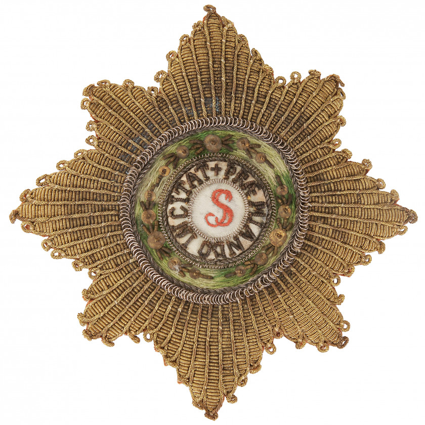 Sewn star of the order of St. Stanislav