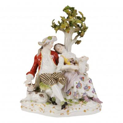 """Porcelain figure """"Shepherd and shepherdess"""""""