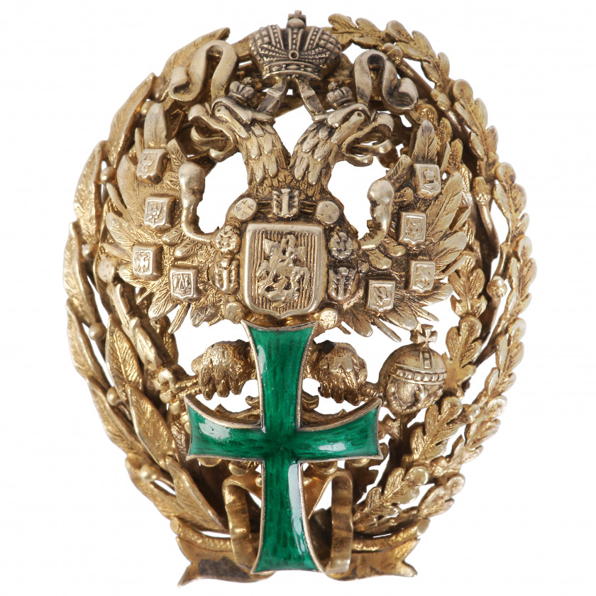 "Badge ""Marking the graduation from Polytechnical Institute (St. Petersburg Institute, Alexander III Institute at Kiev or Nicholas II Institute in Warsaw"""