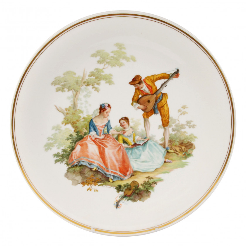 Large porcelain decorative plate