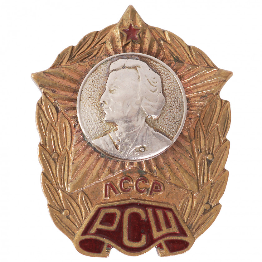 "Badge ""For graduates from the Riga Suvorov School"""