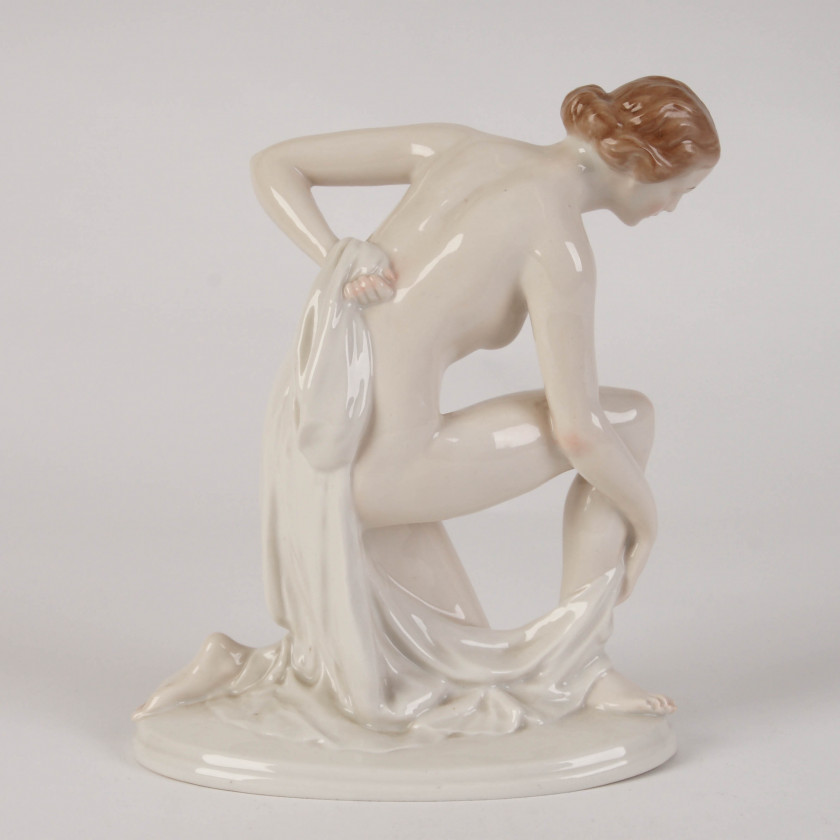 "Porcelain figurine ""After swimming"""