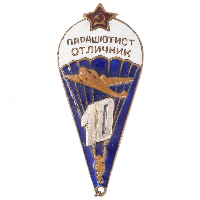 """Nozīme """"PSRS bruņoto spēku izpletņlēcējs - teicamnieks"""""""
