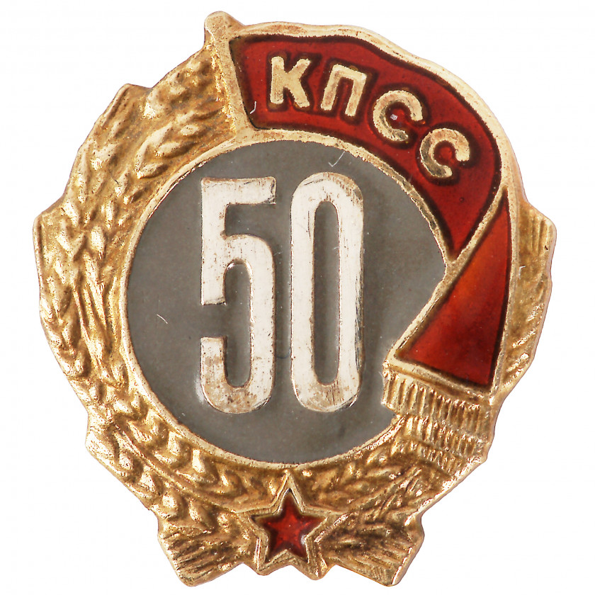 "Badge ""50 years in the CPSU"""