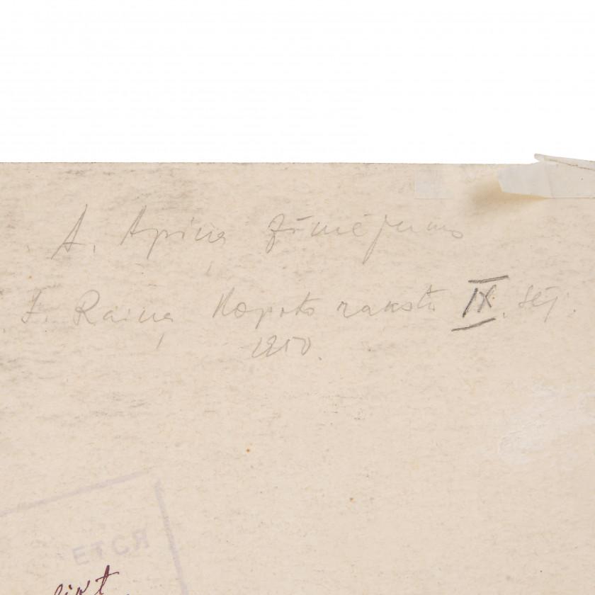 """Zīmējums """"J. Raiņa kopoti raksti IX sējums, Imants"""""""