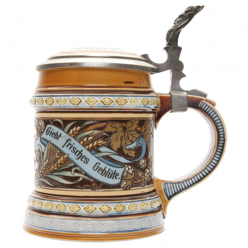 """Beer stein """"Fröhlich Gemüthe giebt frisches Geblüte."""""""