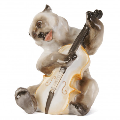 "Porcelain figure ""Bear with a contrabass"""
