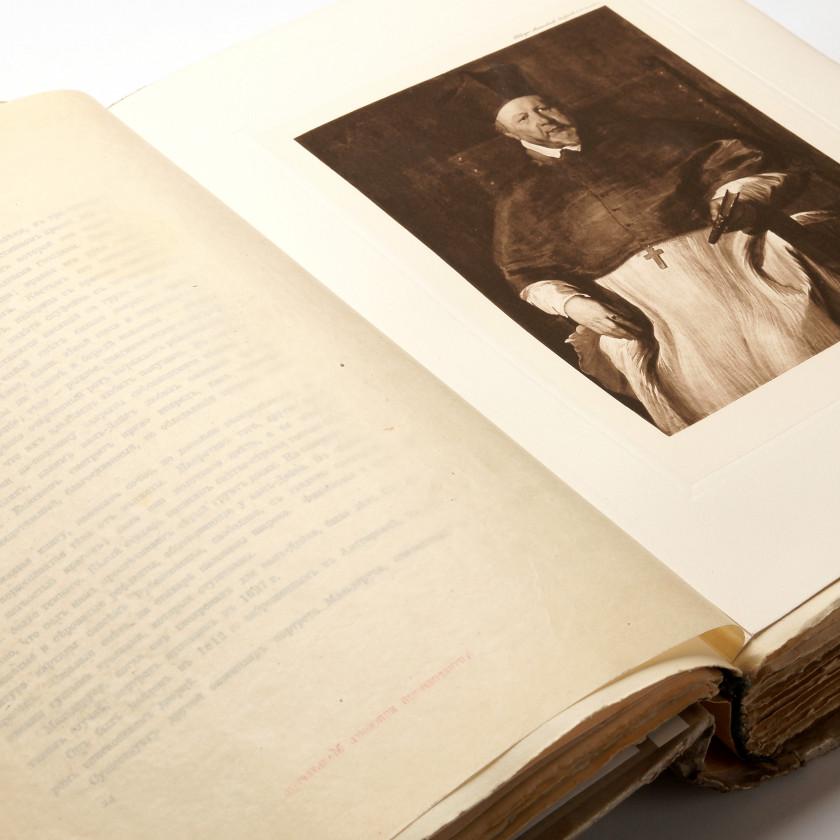 """Book """"Антони ван-Дейк в его избранных произведениях. 50 фотогравюр воспроизводящих картины находившиеся на Антверпенской выставке 1899 г."""""""