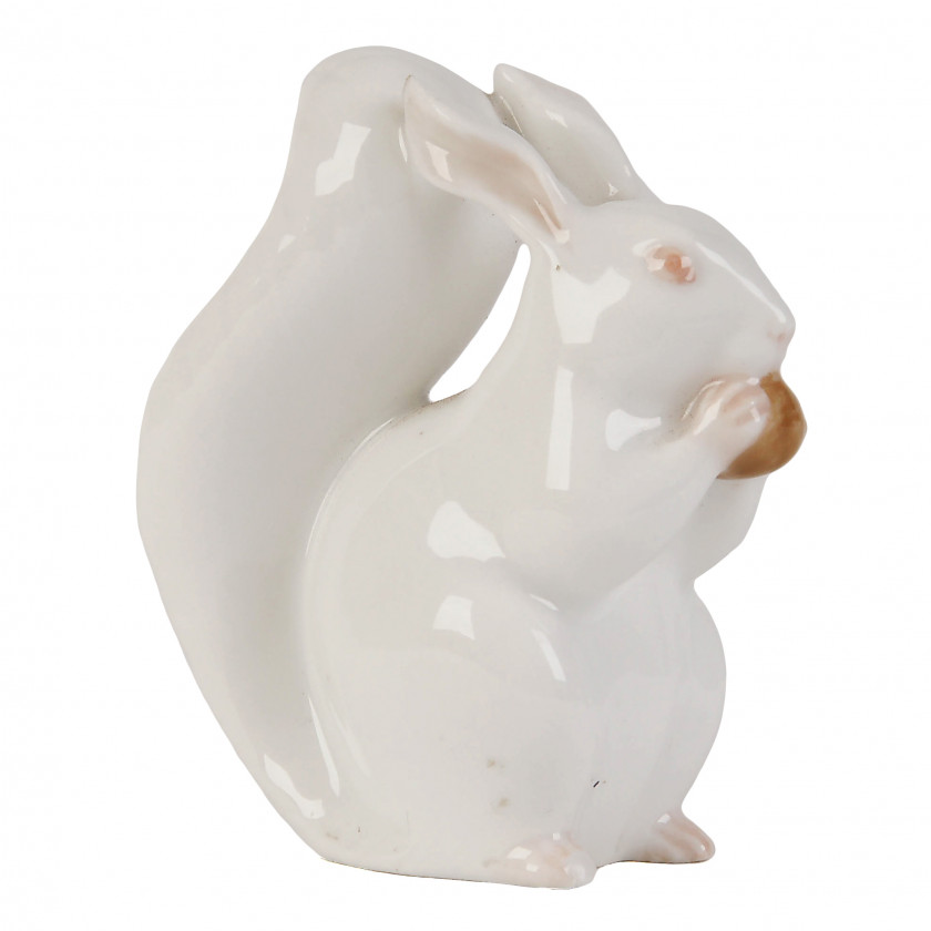 "Porcelain figure ""Squirrel with nut"""