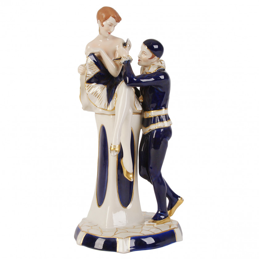 "Porcelain figure ""Pierrot and Columbina"""