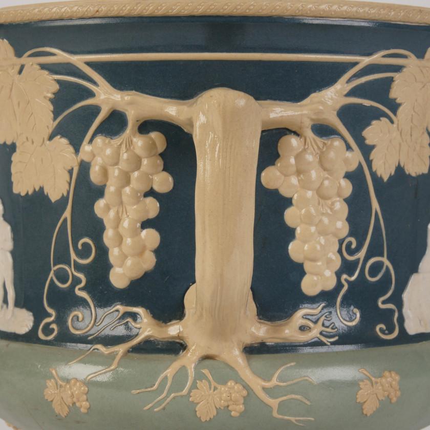 Керамическое кашпо для цветов