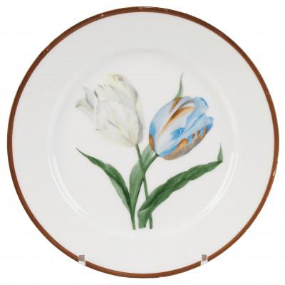 "Porcelain decorative plate ""Tulips"""