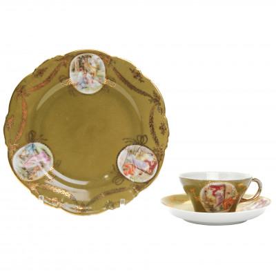 Фарфоровая чайная тройка