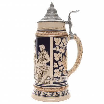 "Beer stein ""Poachers in the Herder's Hut"""
