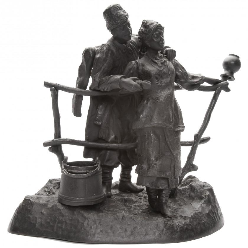 """Скульптура """"Свидание Малороссов"""""""