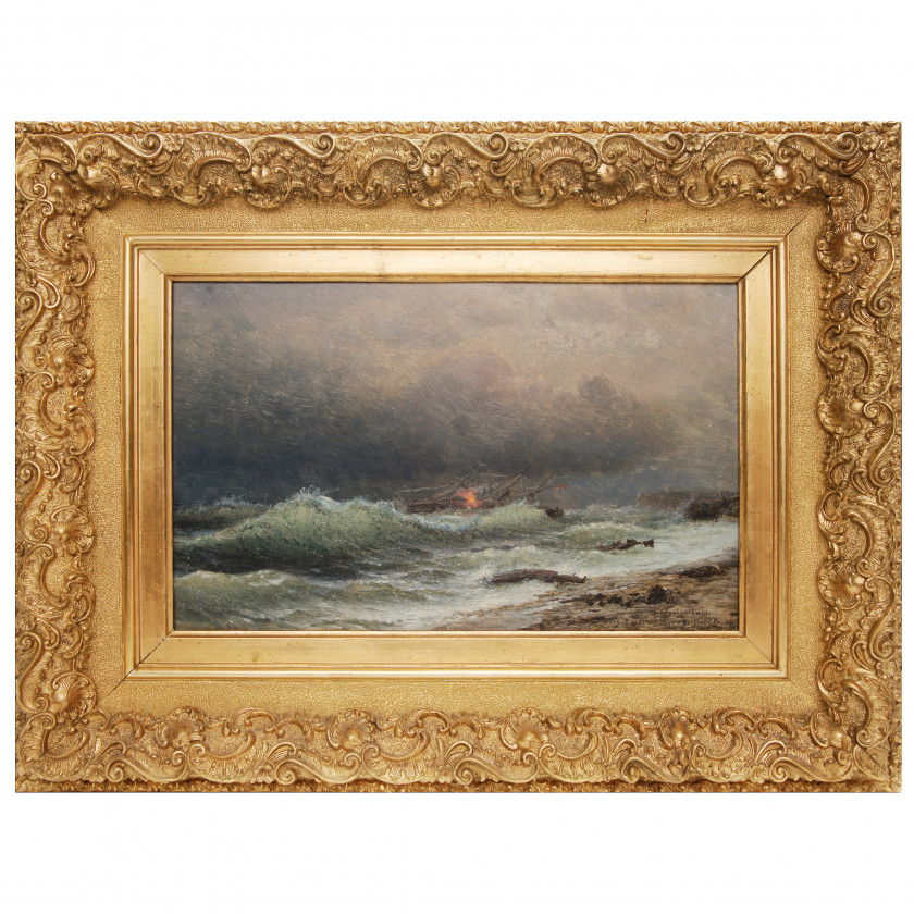 "Painting ""Storm November 2, 1854 off the coast of Crimea"""