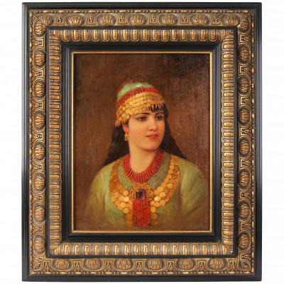 "Painting ""Girl in Oriental Dress"""