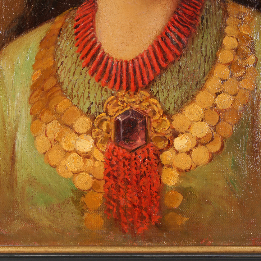 "Painting ""Girl in Oriental Dress"""