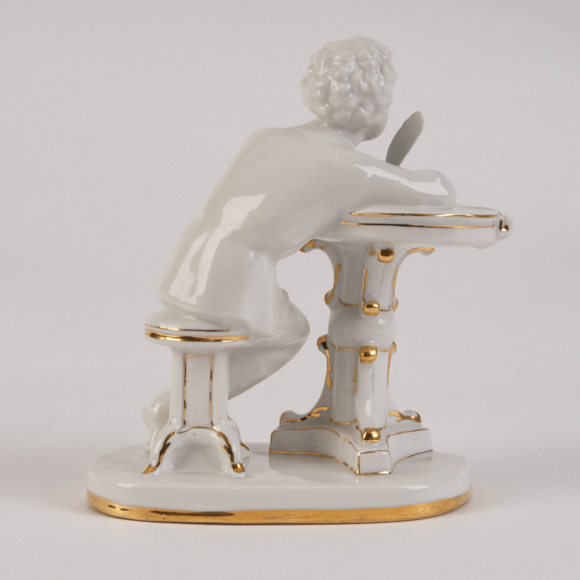 "Porcelain figure ""Young Pushkin at the table"""