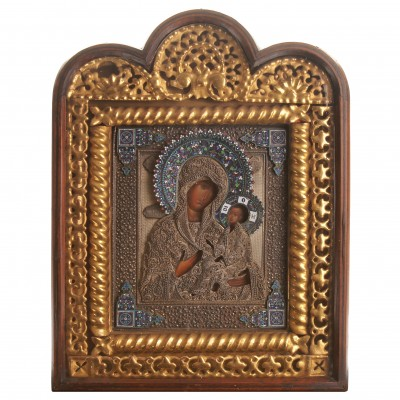 "Icon ""The Virgin of Tikhvin"""