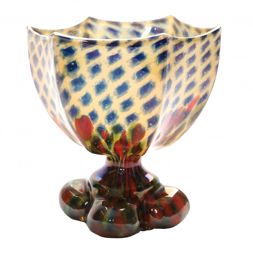 "Glass vase ""Diamond"""