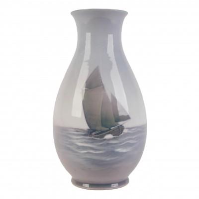 """Porcelain vase """"Sailboat"""""""