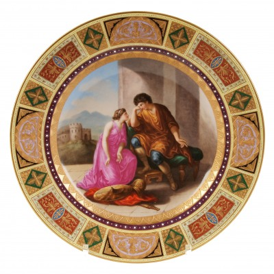 "Porcelain decorative plate ""Cleopatra"""