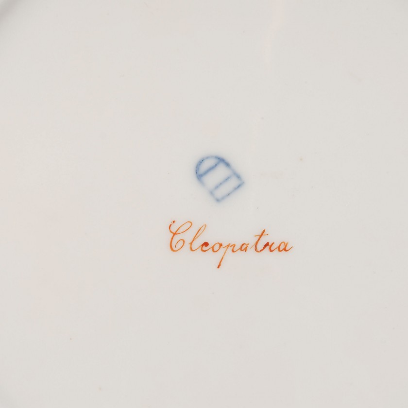 "Porcelain decorative plate ""Cleopatra"""