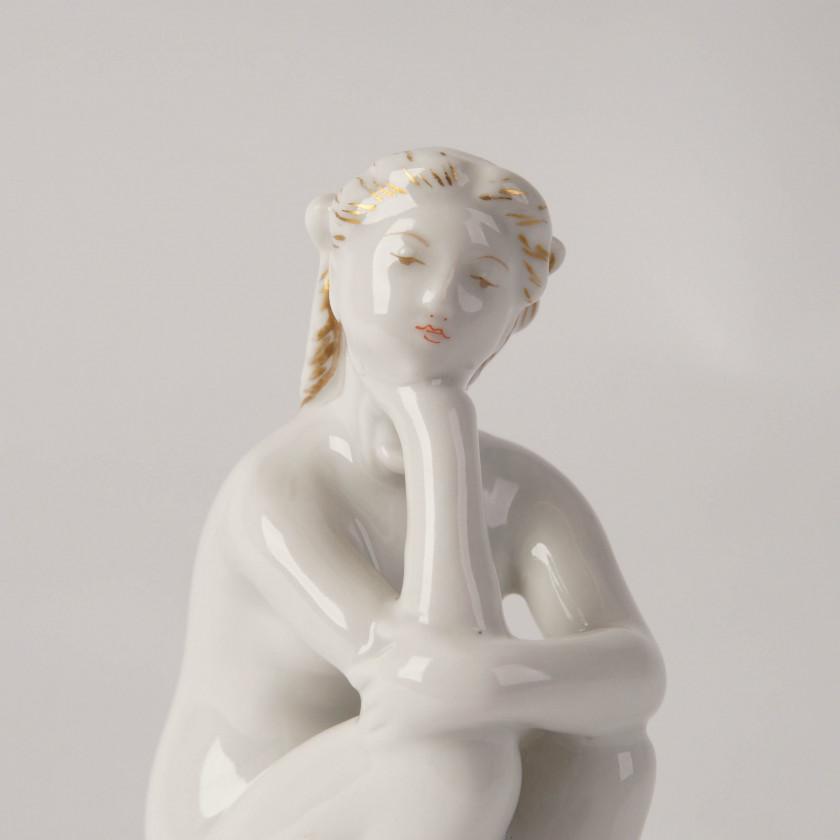 """Porcelain figure """"On the beach"""""""