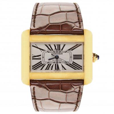 """Золотые наручные часы Cartier """"Divan"""""""
