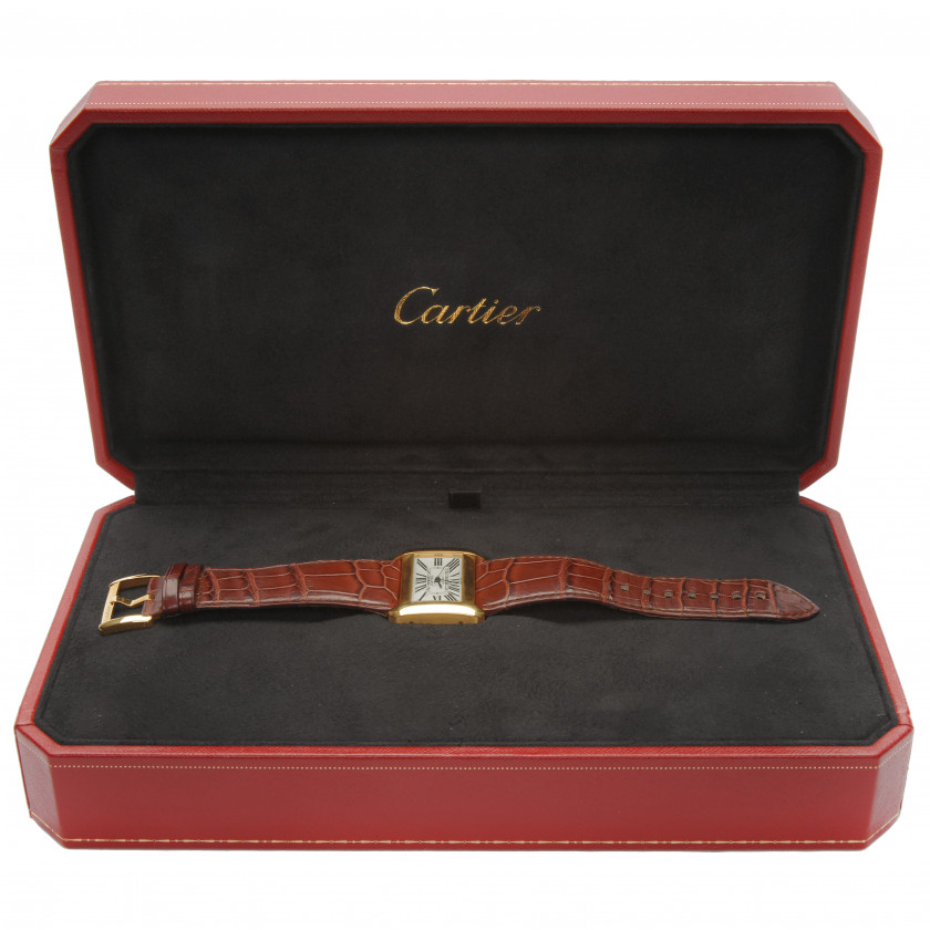 "Gold wrist watch Cartier ""Divan"""