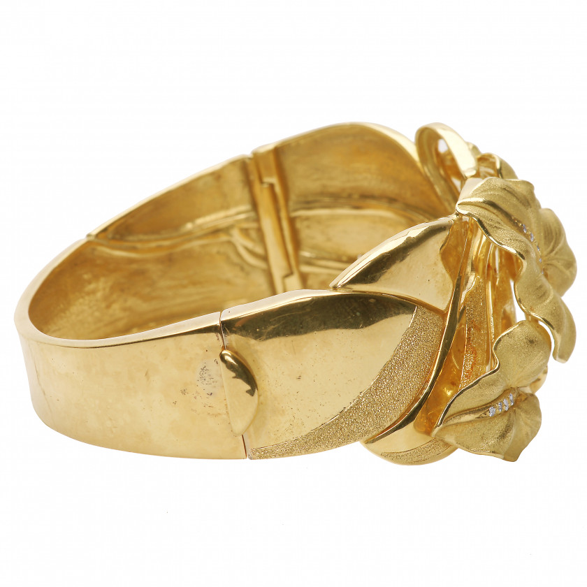 Gold bracelet with diamonds Annamaria Cammilli
