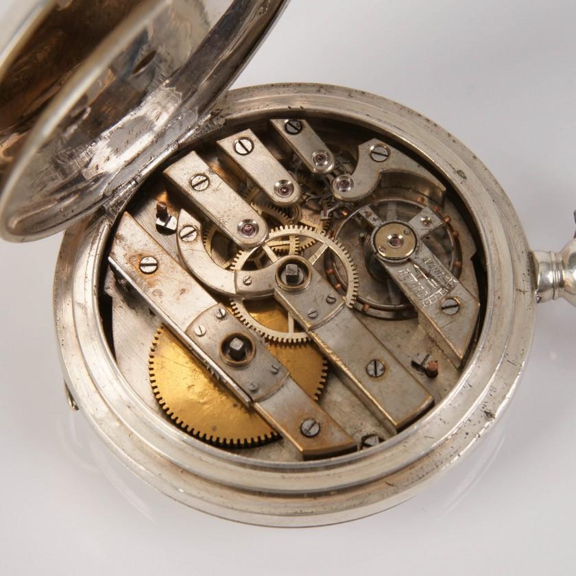 """Sudraba kabatas pulkstenis """"Pegasus"""""""