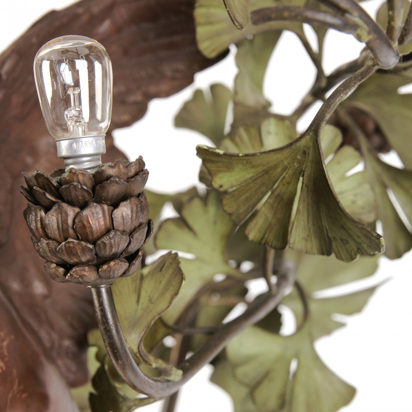 "Lamp in Art Nouveau style ""Gingko Biloba"""