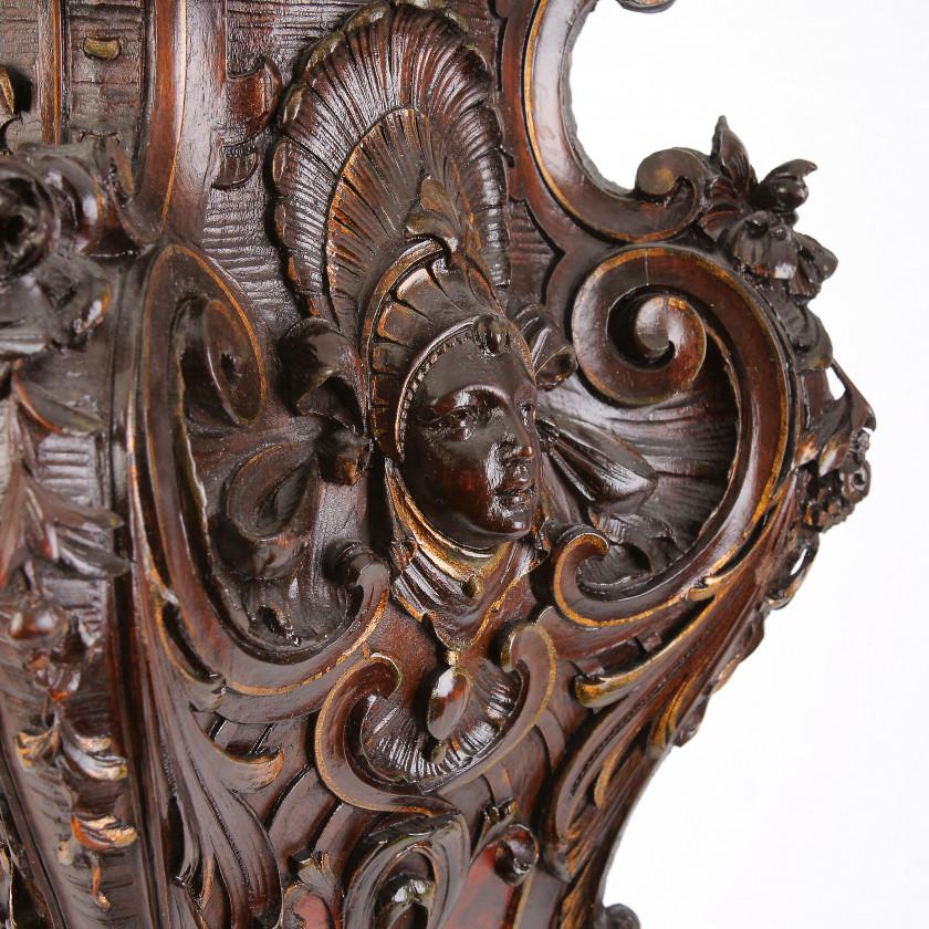 Wooden column