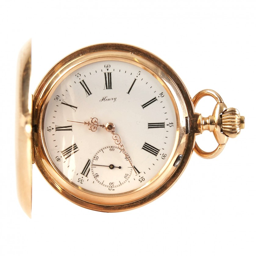 "Zelta kabatas pulkstenis ""Henry"""