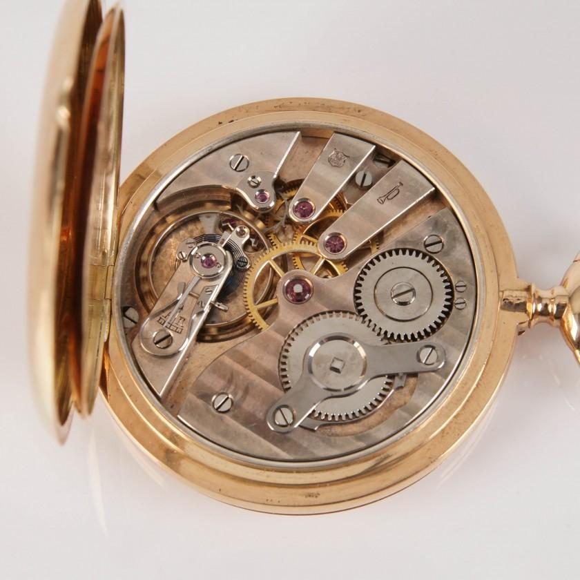 """Zelta kabatas pulkstenis """"Mermod Freres"""""""