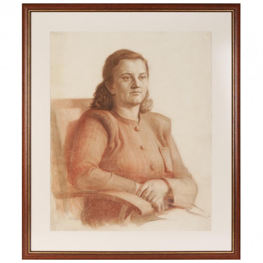 """Zīmējums """"Sievietes portrets"""""""