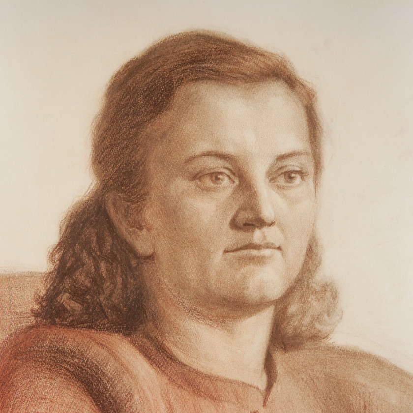 """Drawing """"Portrait of a Woman"""""""