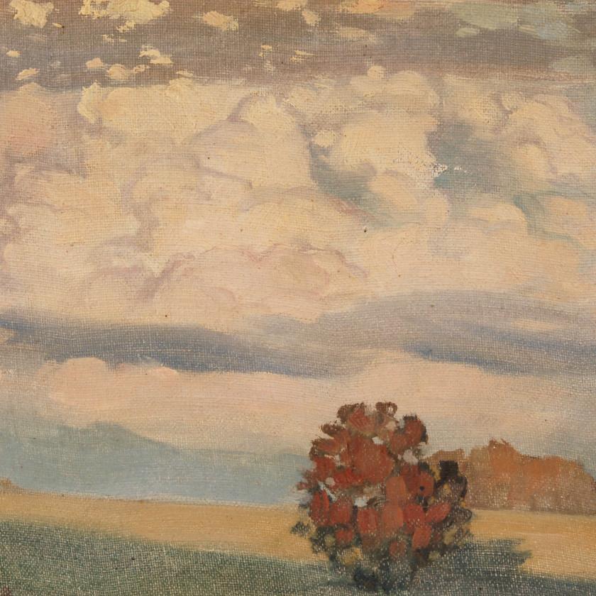 "Painting ""Cumulus clouds"""