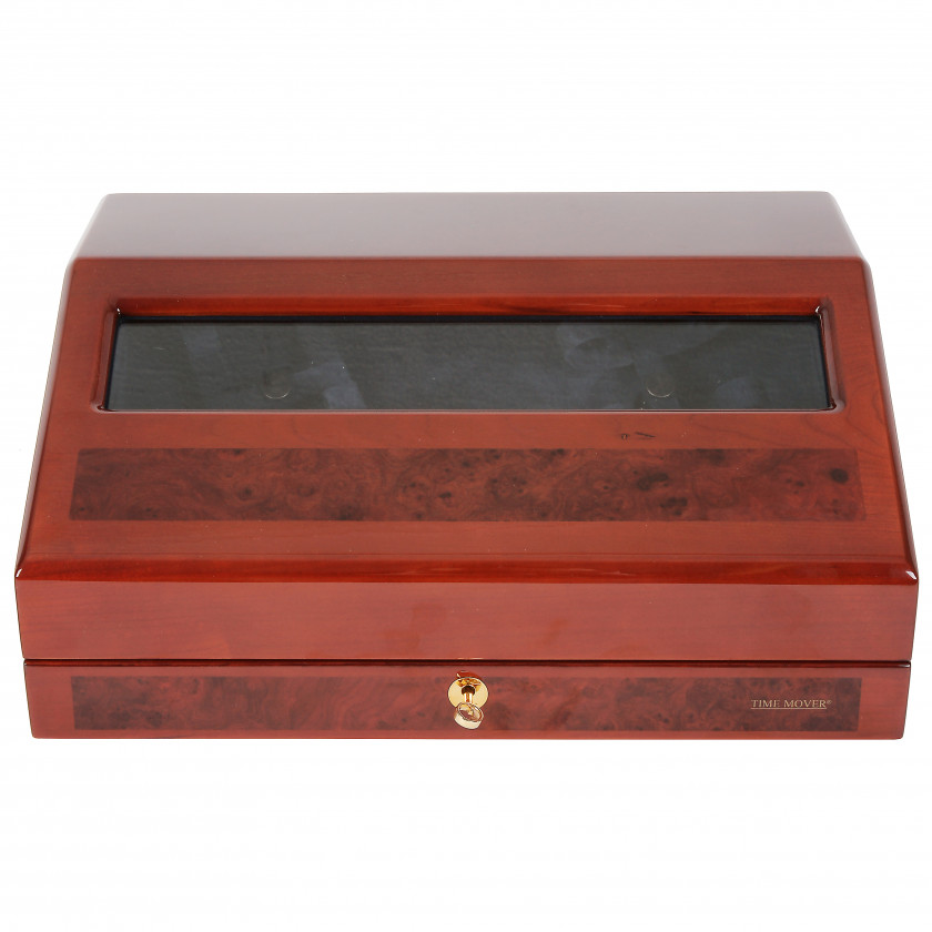 "Watch box with automatic watch winders Buben & Zörweg ""Time Mover, President"""