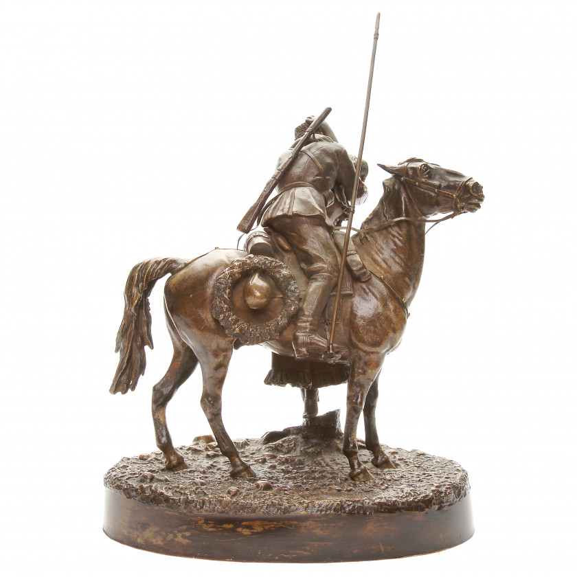 "Bronze figure ""Cossack farewell"""