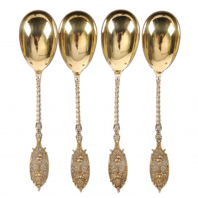 Set of silver coffee spoons, 4 pcs.