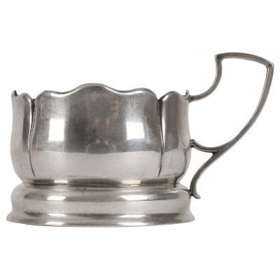 Silver tea glass holder
