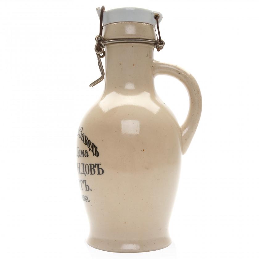 "Ceramic beer bottle (1 liter) of the brewery ""Yusuf Davydov"""