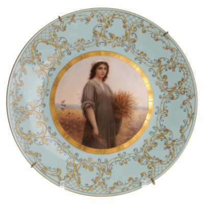 "Porcelain decorative plate ""Ruth"""