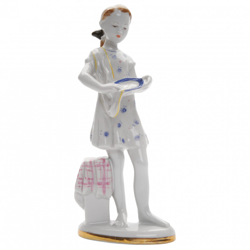 "Porcelain figure ""Young helper"""